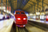 Modern Fast Passenger Train. Motion effect — Stockfoto