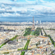 Panorama of Paris from the Montparnasse Tower. France(District — Stock Photo #35817321