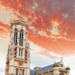 Church Saint-Germain-l'Auxerrois near the Louvre. Paris.France. — Stock Photo