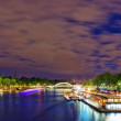 City, urban  view of Paris  from Seine river.France — Stock Photo