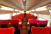 Interior of the high-speed train. — Stock Photo