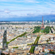 Panorama of Paris from the Montparnasse Tower. France(District — Stock Photo #36059725