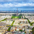 Panorama of Paris from the Montparnasse Tower. France(District — Stock Photo #36059739