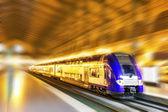 Modern Fast Passenger Train. Motion effect — Stock Photo