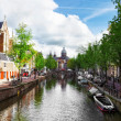 Amsterdam with canal in the downtown,Holland. — Stock Photo