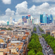 View of Paris from Arc de Triomphe. Defans Area.Paris. Fran — Stock Photo #36750499