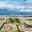 Panorama of Paris from the Montparnasse Tower. France(District — Stock Photo #36750615