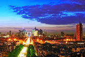 View of Paris from the Arc de Triomphe. Defans Area.Paris. Fran — Stockfoto