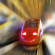 Modern Fast Passenger Train. Motion effect — Stock Photo