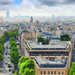 View of Paris from Arc de Triomphe. .Paris. France. — Stock Photo #36965997