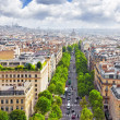 View of Paris from the Arc de Triomphe. .Paris. France. — Stock Photo