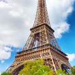 View at foot of Eiffel Tower.Paris,France — Stock Photo