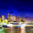 City, urban  view of Paris  from Seine river.France — Foto de Stock
