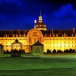 Les Invalides at night - Paris, France. — Stock Photo