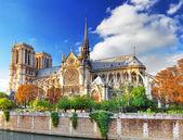 Notre dame de paris cathedral.paris. Francie. — Stock fotografie