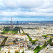 Panorama of Paris from the Montparnasse Tower. France(District — Stock Photo #37217197