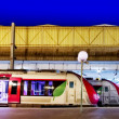 Modern Fast Passenger Train at the station. — Stock Photo #37217203
