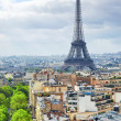 Stock Photo: View of Paris from the Arc de Triomphe. .Paris. France.