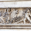 Moldings on the Arc de Triomphe. Paris. France. — Stock Photo
