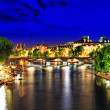 City, urban view of Paris from Seine river.France — Stock Photo #37217523