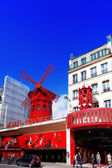 PARIS, FRANCE - SEPTEMBER 20: The Moulin Rouge during the day, o — Stock Photo