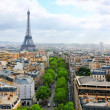 View of Paris from Arc de Triomphe. .Paris. France. — Stock Photo #37729375