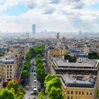 Stock Photo: View of Paris from Arc de Triomphe. .Paris. France.