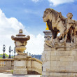 Pont Alexandre III bridge (1896) spanning the river Seine. Decor — Stock Photo