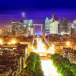 Stock Photo: View of Paris from the Arc de Triomphe. Defans Area.Paris. Fran