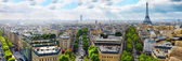 View of Paris from the Arc de Triomphe. .Paris. France. — Foto de Stock