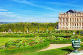VERSAILLES FRANCE - SEPTEMBER 21 Back side of the Royal Versaill — Stock Photo