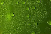 Abstract Water Drops Background. Green colour wallpaper — 图库照片