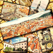 Collage of beautiful Prague. — Stock Photo