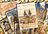 Collage of beautiful Prague. — Stok fotoğraf