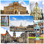 Collage of beautiful Dresden. Germany. — Stock Photo