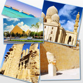 Collage of beautiful Egypt . Africa. — Stok fotoğraf