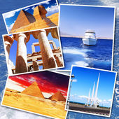 Collage of beautiful Egypt . Africa. — Stock Photo