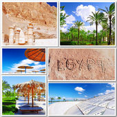 Collage of beautiful Egypt . Africa. — 图库照片