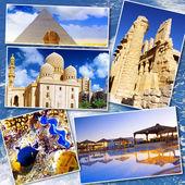 коллаж из красивых египте. африка — Стоковое фото