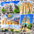 Collage of beautiful Barcelona. Catalonia. Spain. — Stock Photo #50727123