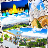 Collage of beautiful Barcelona. Catalonia. Spain. — Stock Photo