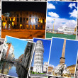 Collage of beautiful Italy. Rome, Florence, Pisa, Venice — Stock Photo #50948661
