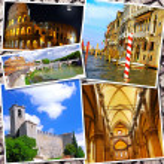 Collage of beautiful Italy. Rome, Florence, Pisa, Venice — Foto de Stock