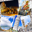 Collage of beautiful Italy. Rome, Florence, Pisa, Venice — Foto de Stock   #50949179