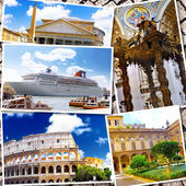 Collage of beautiful Italy. Rome,  Florence, Pisa, Venice — Stock Photo