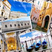 Коллаж из прекрасной Италии. Рим, Флоренция, Пиза, Венеция — Стоковое фото