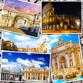 Collage of beautiful Italy. Rome,  Florence, Pisa, Venice — Stock fotografie