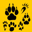 Footprints vector set - vinyl-ready illustration. - Grafika wektorowa