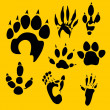 Footprints vector set - vinyl-ready illustration. — 图库矢量图片