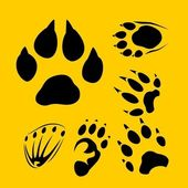 Footprints vector set - vinyl-ready illustration. — Stock Vector